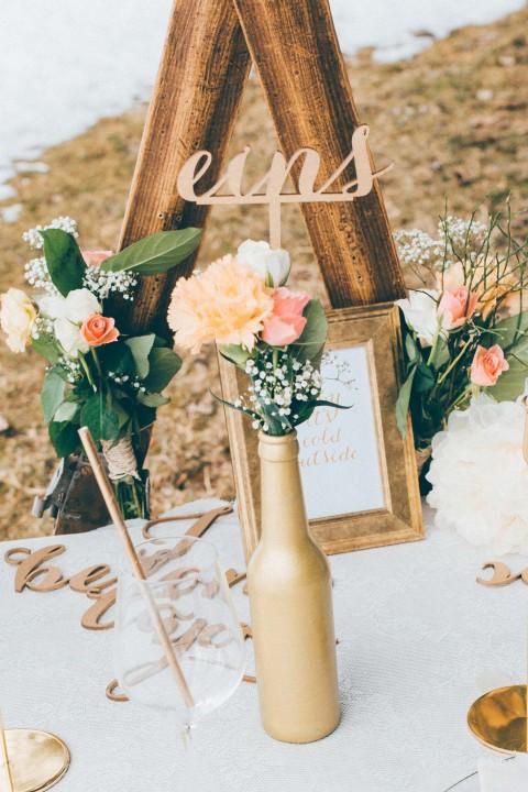 Pastell-Liebe trifft auf rustikale Hochzeits-Romantik