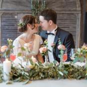 Ein frühlingshafter Hochzeits-Gruß in Pastell