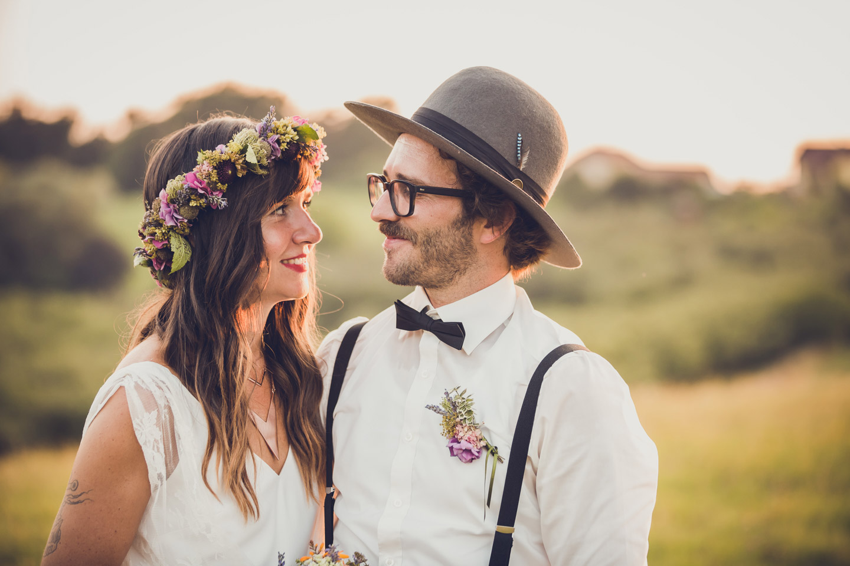 Hippie-Hochzeit im eigenen Garten