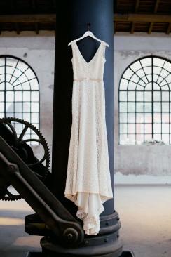 Industrial-Liebe in Kupfer und Weiß