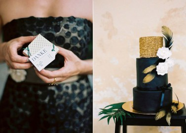 Doppelte Weiblichkeit: Hochzeitsidee in Schwarz-Weiß