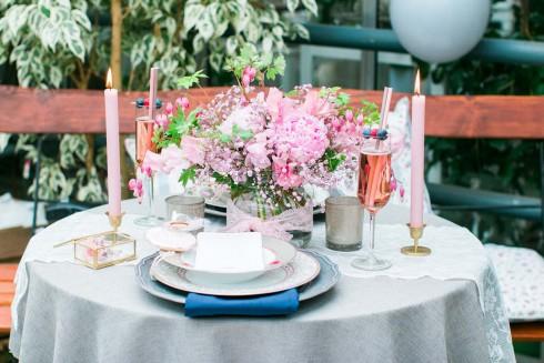 Romantisches Frühlingserwachen in Rosa & Grau