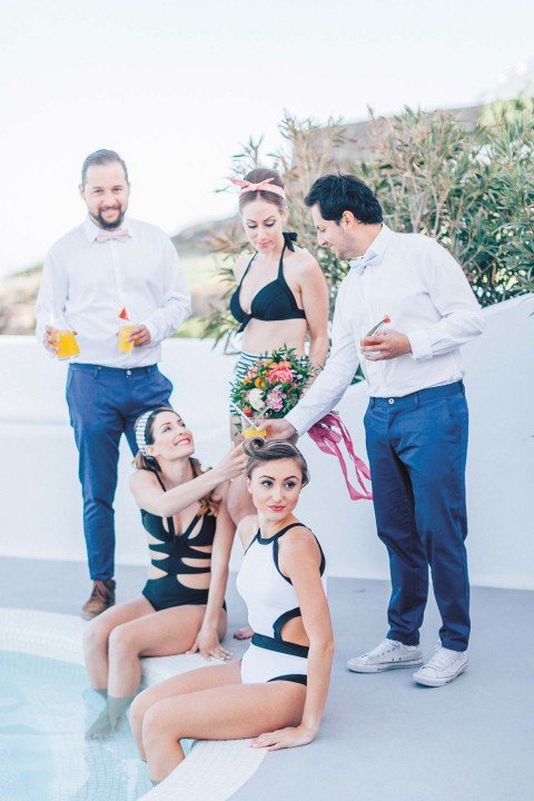 Bridalshower & Rock'n Roll auf Santorin
