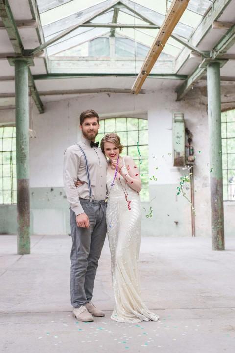 Geometrische Liebeskunst in der Wollfabrik