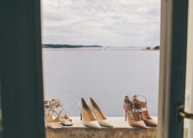 Mediterrane Hochzeit am Meer - Brautschuhe