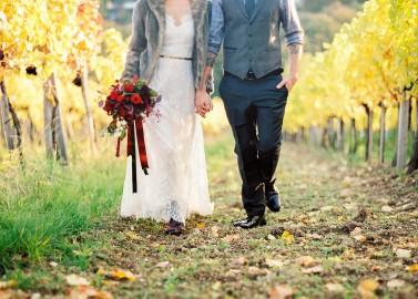 Weingut am Reisenberg: Hochzeit im goldenen Herbst