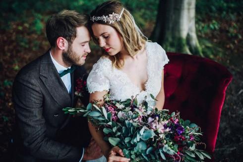 Bohemian-Hochzeit in heimischen Wäldern