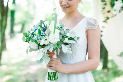 Italienische Boho-Hochzeitsinspiration in Blau & Kupfer