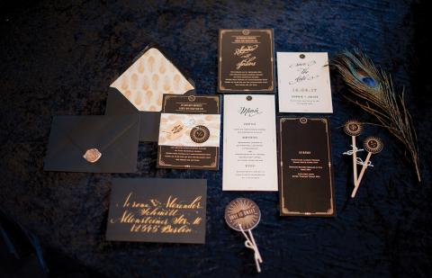 Hochzeitseinladung Great Gatsby