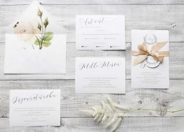Kalligrafie Hochzeitseinladung