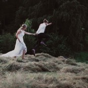 Salome & Friedrich: Wiesenhochzeit mit selbstgemachten Details