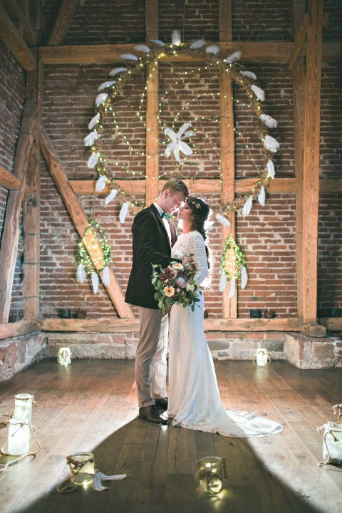 Hochzeitsinspiration: Moderne Pocahontas-Liebe