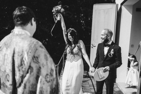 Hannah & Mike's Alice im Wunderland-Hochzeit