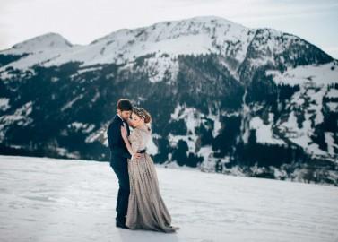 Something blue: Modernes Hochzeitsmärchen im Winterwonderland