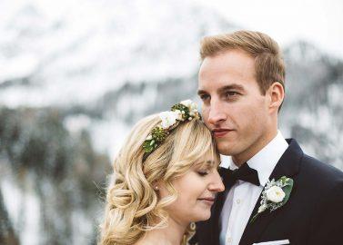Alpine Winter Hochzeitsinspiration