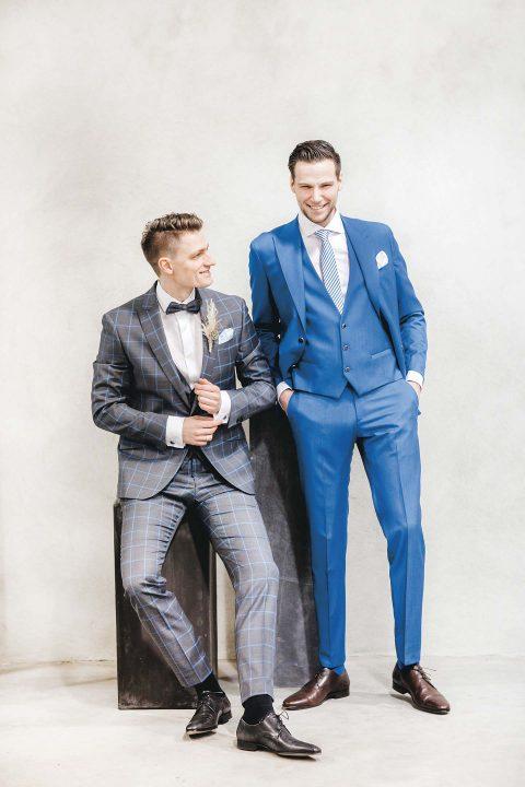 Shades of Blue für den Bräutigam