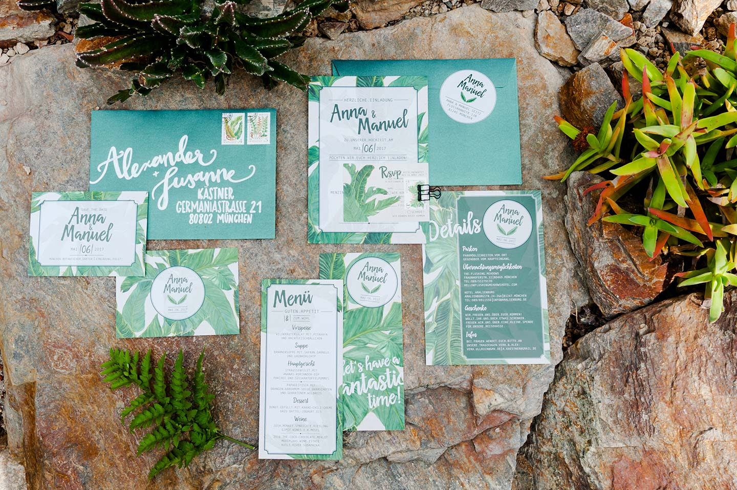 Botanical Wedding in Mint