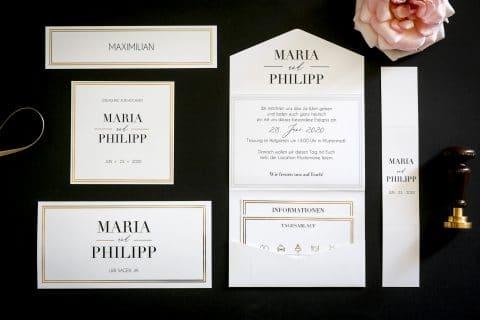 Edle Hochzeitskarten