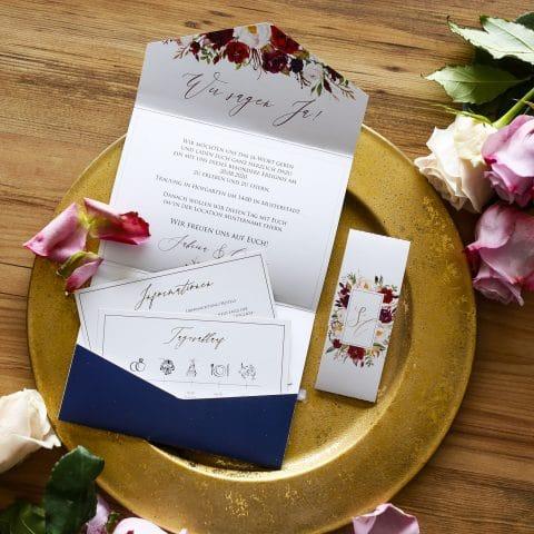 Pocketfold für Hochzeit