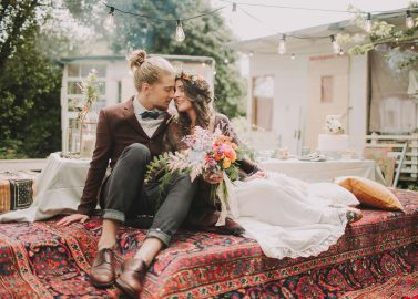 Green Hippie Wedding