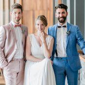 Moderne Raffinesse des Bräutigams