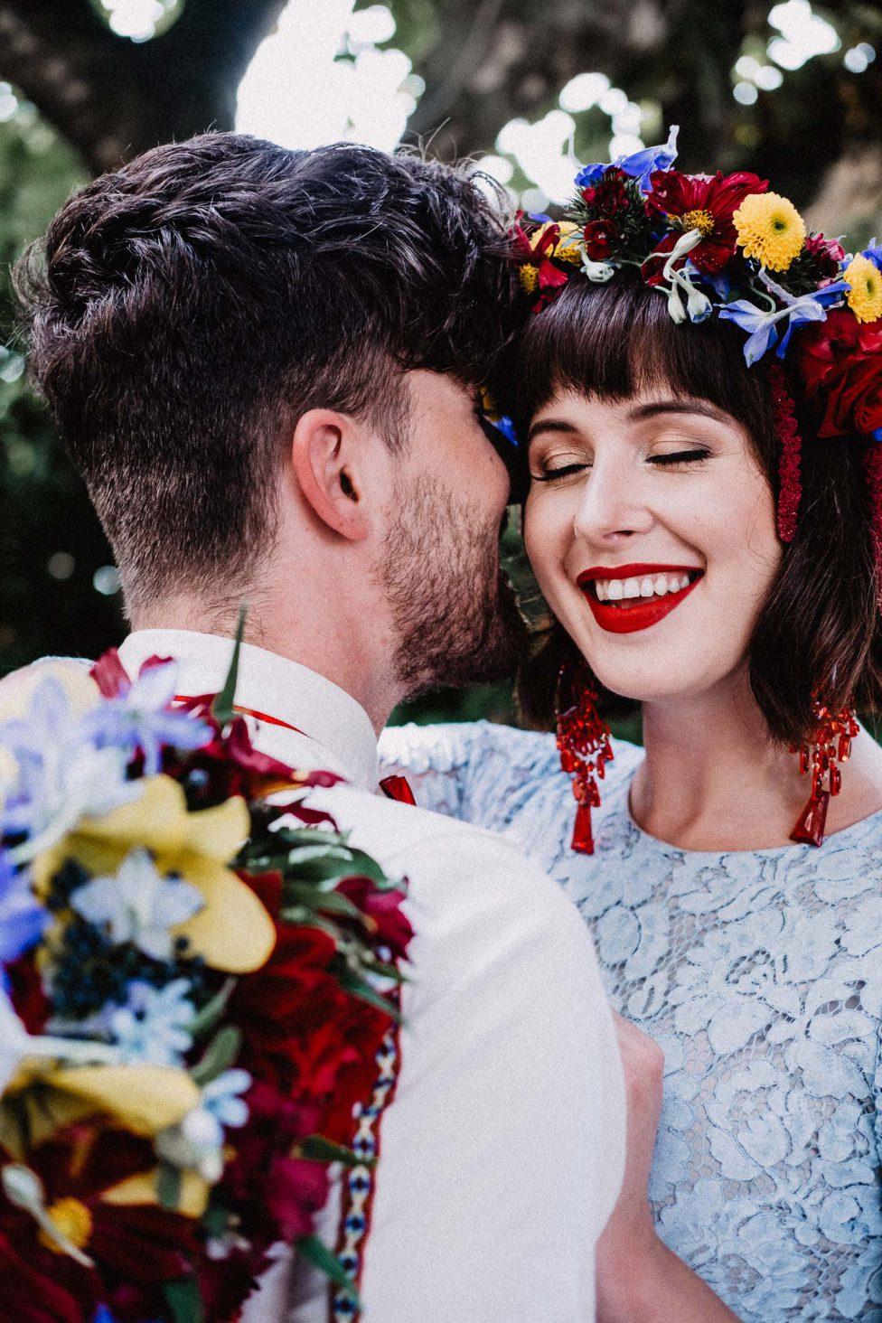 Bunte Erneuerung eines Eheversprechens