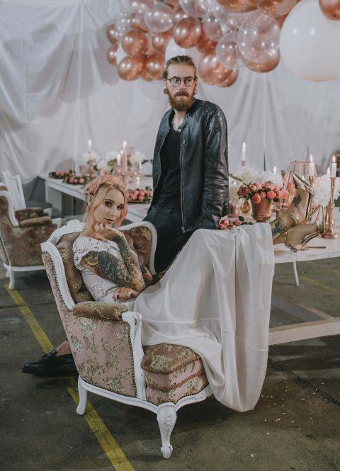 Mit einer floralen Rock-Chic Hochzeitsidee ins neue Jahr!