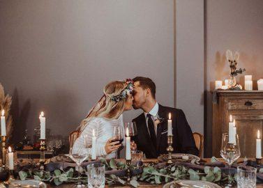 Hochzeitsidee im dunklem Nachtblau