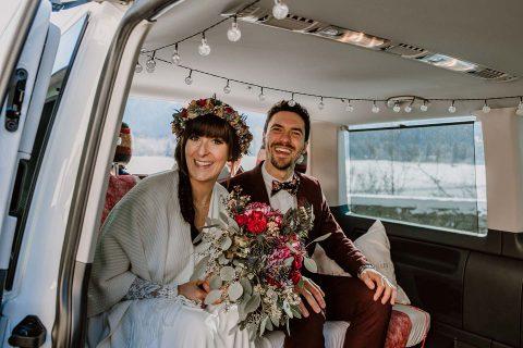 Ramona & Tobi: Boho-Winterhochzeit im Schlossgarten