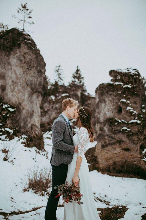 Zwei Hochzeitsideen, eine Winteridylle