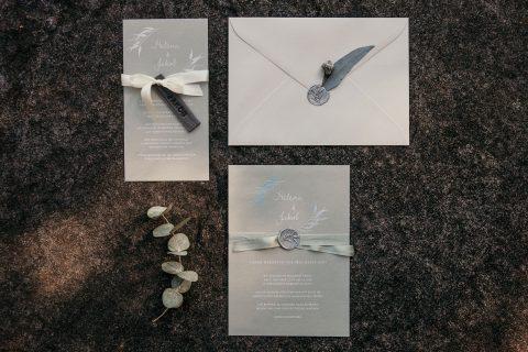 Hochzeitspapeterie grau