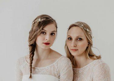 Brautstyling-Ideen mit romantischen Headpieces