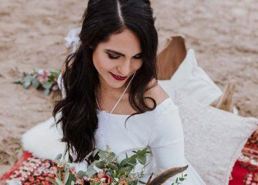Hochzeitliche Boho-Romantik im Frühling