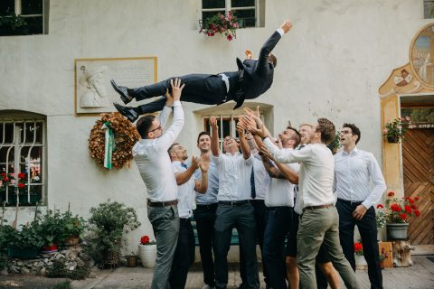 Kathrin & Georg – rustikale Hochzeit in den Südtiroler Weinbergen