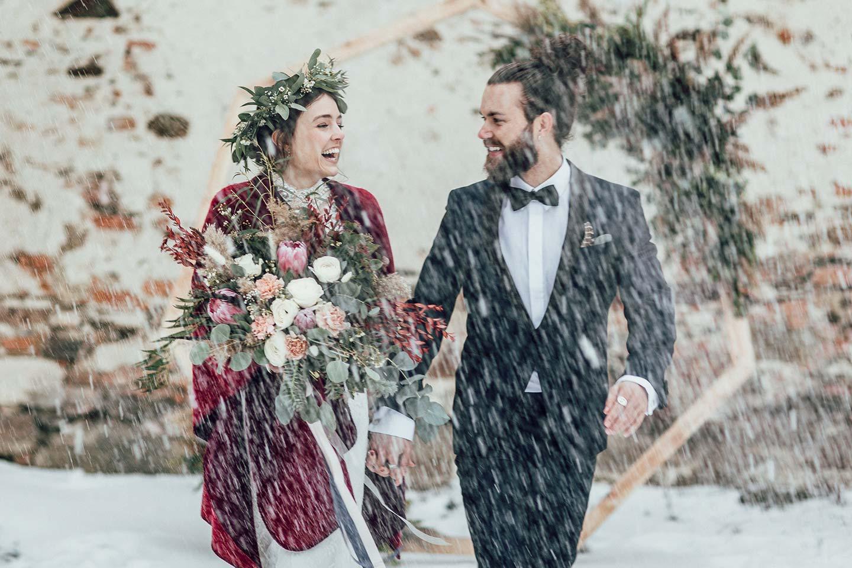 Ein smaragdgrüner Hochzeitstraum im Boho-Chic