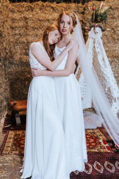 Brautkleider-Chic für Boho-Hochzeit