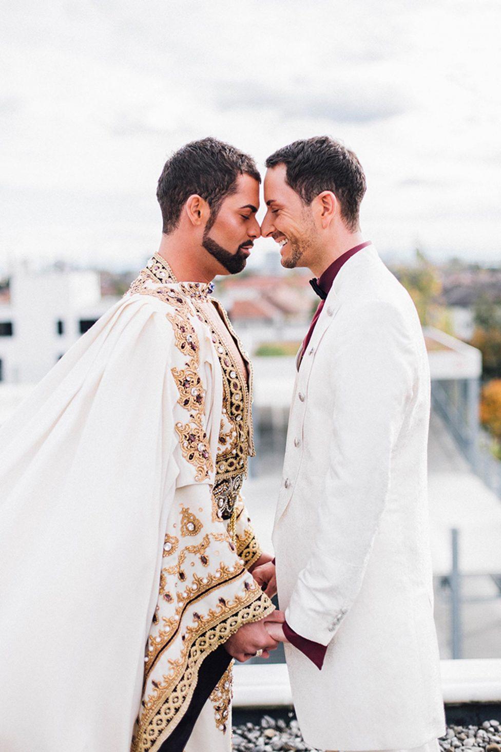 Daniel & Roman: Fête Blanche für Bräutigam und Bräutigam