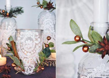 Türchen 17 – Festliche DIY-Teelichter für die Winterhochzeit