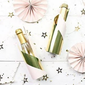 DIY-Sektflasche elegant verpacken