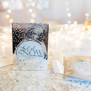 Let it snow shaker christmas card