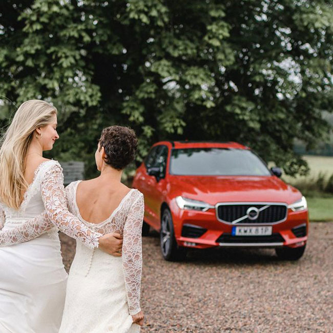 Hochzeitswahn zu Besuch bei Volvo Schweden