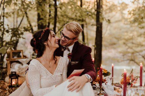 Hochzeitszauber im goldenen Herbst