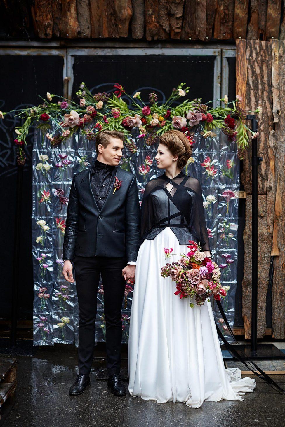 Hochzeitsinspiration: Rock Chic & Barock
