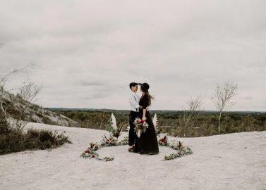 Normandie Hochzeitsinspiration: Black is beautiful