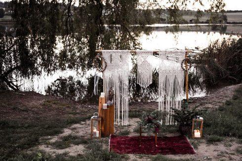 Wild-romantische Boho-Hochzeitsinspiration am Moossee