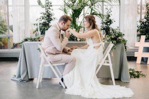 Greenery Hochzeitsinspiration in der Pflanzbar Meerbusch