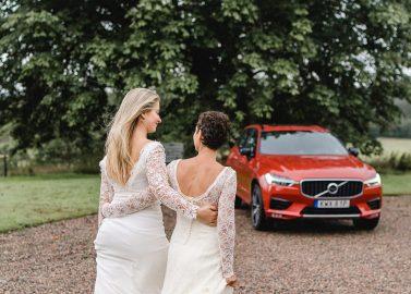Was für ein Traumpaar: Volvo & Frida Hellberg Bridal Couture