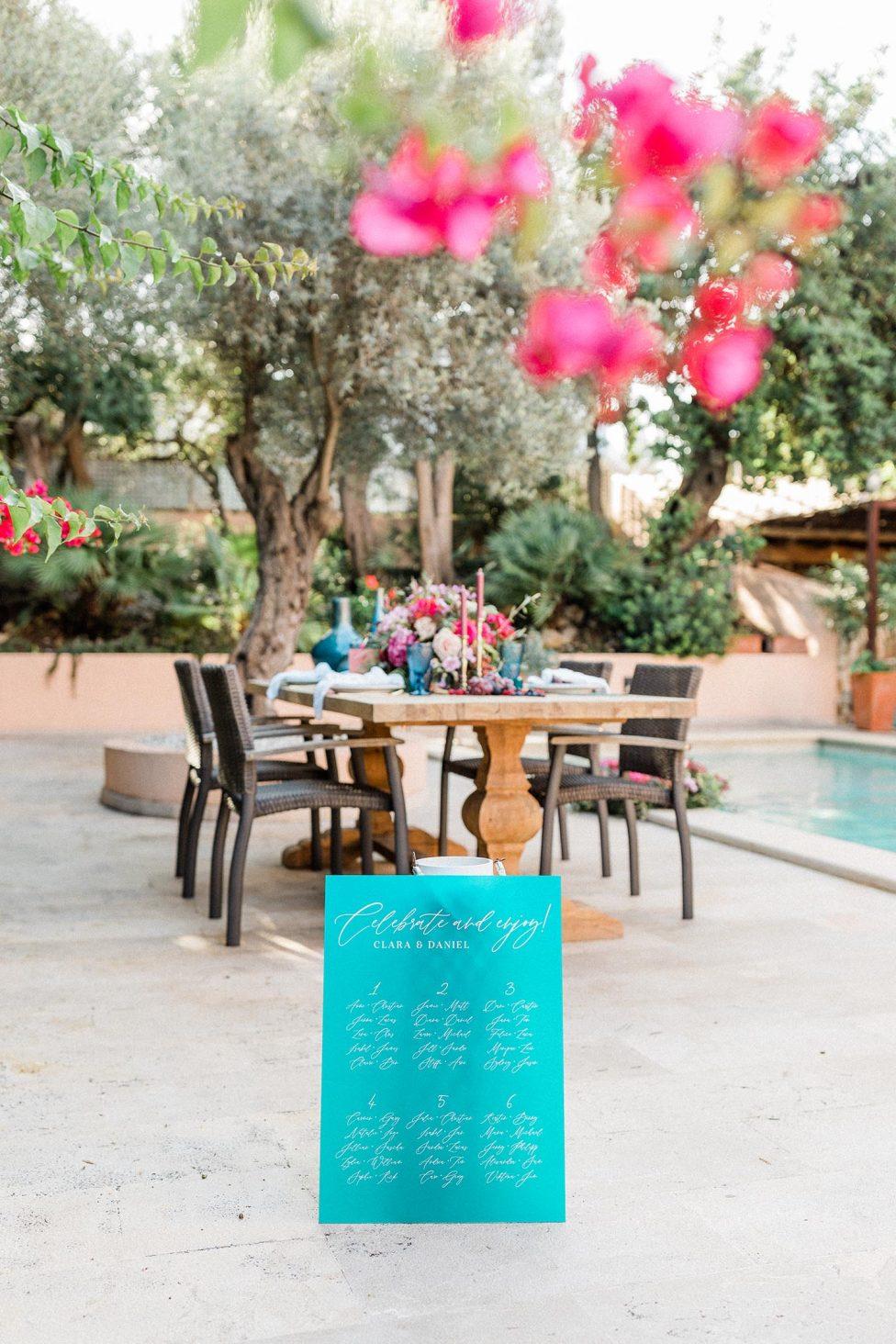 Spanische Lebensfreude und kräftige Hochzeitsfarben
