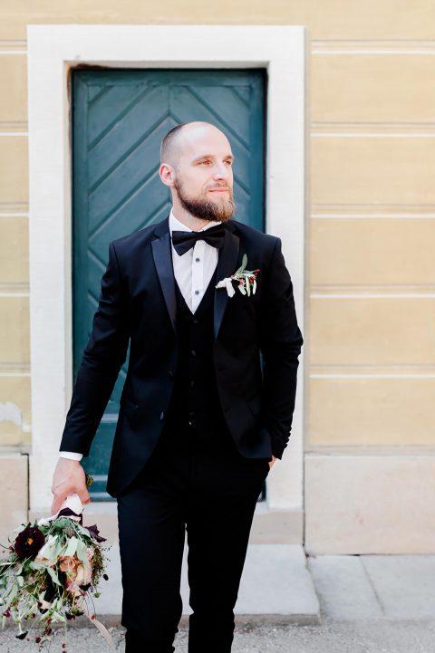 Elegante Hochzeitsinspiration in der Villa Sorgenfrei