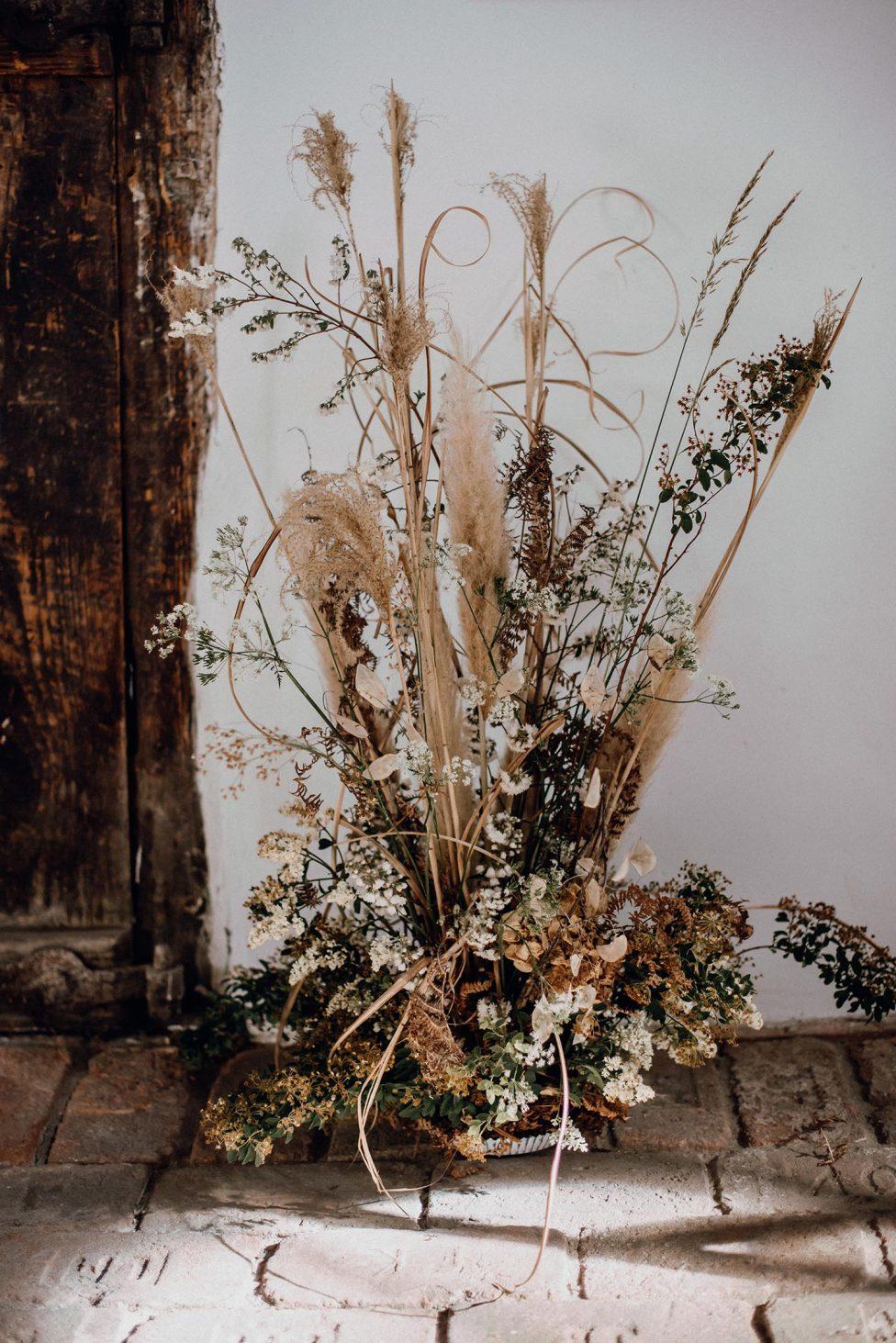 Hochzeitstrend Trockenblumen